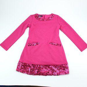 Biscotti Girls Sequin Dark Pink Long Sleev…